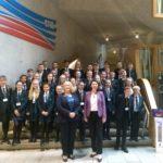 Hamilton Grammar visit to Parliament